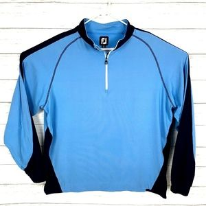 Footjoy FJ Men's 1/4 Zip L/S Golf Pullover Blue XL